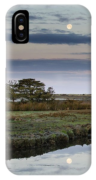 Moon Over Marsh IPhone Case