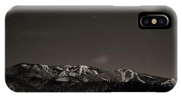 Moon Over Mt. Werner IPhone Case