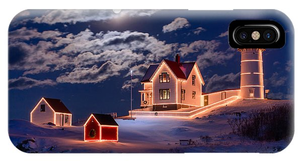 Moon Over Nubble IPhone Case