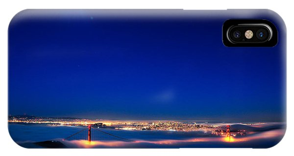 Moon Over San Francisco In Fog IPhone Case