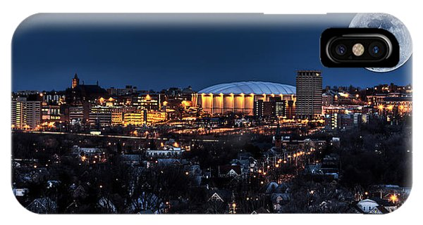 Full Moon iPhone Case - Moon Over The Carrier Dome by Everet Regal