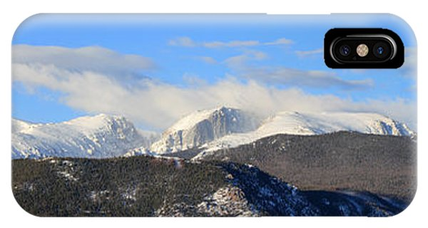 Moon Over The Rockies - Panorama IPhone Case