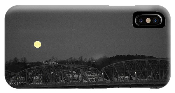 Moon Over The Steel Bridge IPhone Case