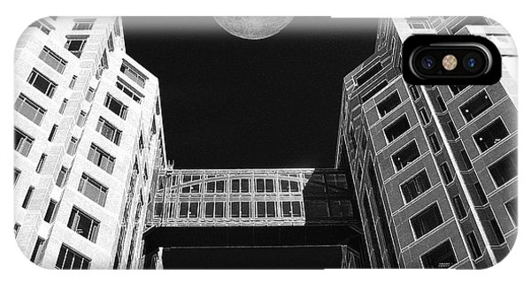 Moon Over Twin Towers IPhone Case