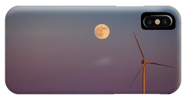 Moon Over Wind Generator IPhone Case
