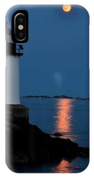 Moon Over Winter Island Salem Ma IPhone Case