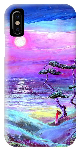 Lavender iPhone Case - Moon Pathway,seascape by Jane Small