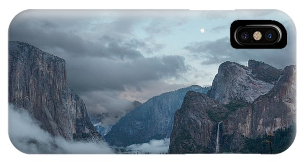 Bridal iPhone Case - Moon Rise Yosemite by Bill Roberts