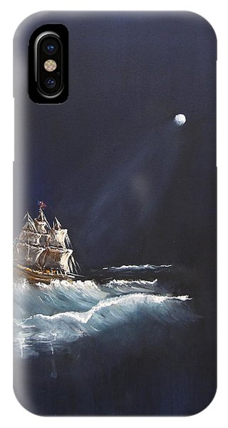Moon Sailing IPhone Case