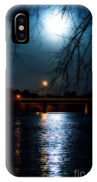 Moon Set Lake Pleasurehouse IPhone Case