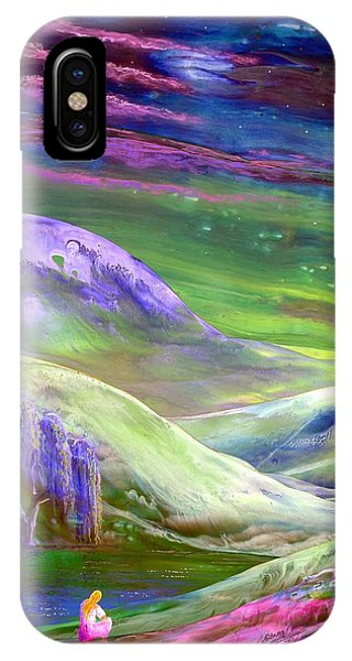 Heather iPhone Case - Moon Shadow by Jane Small