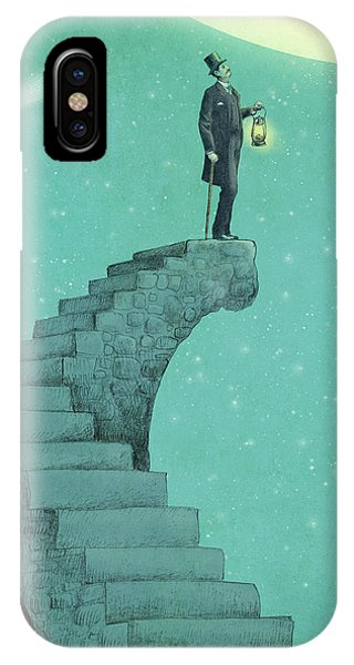 Moon iPhone X Case - Moon Steps by Eric Fan