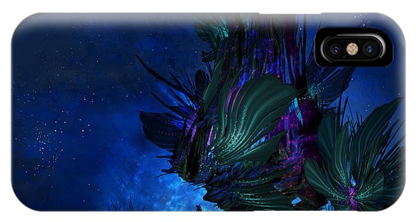 Cassiopeiaart iPhone Case - Moon Tree Hills by Cassiopeia Art