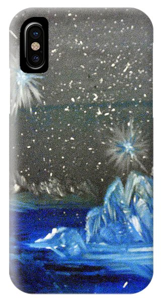 Moon With A Blue Dress IPhone Case