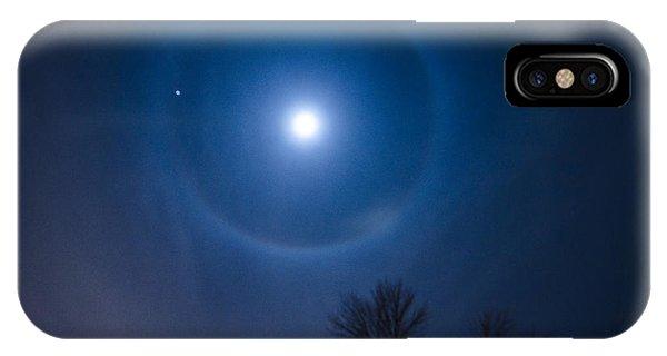Moonbow Over Chicago 1 Phone Case by Deborah Smolinske