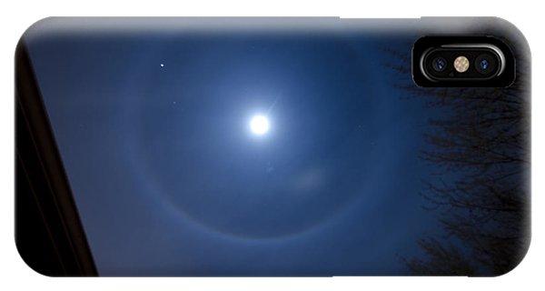 Moonbow Over Chicago 3 Phone Case by Deborah Smolinske