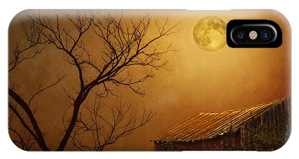 Moonglow Over Polenz Ranch IPhone Case