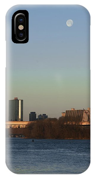 Mooning In The City Phone Case by Zachary Hitchcock