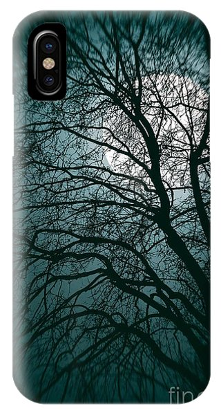 Gloomy iPhone Case - Moonlight Forest by Carlos Caetano