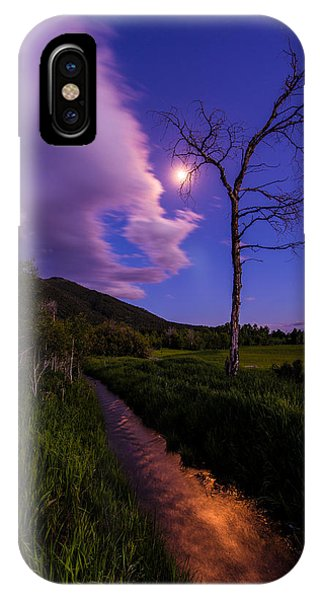 Etna iPhone Case - Moonlight Meadow by Chad Dutson