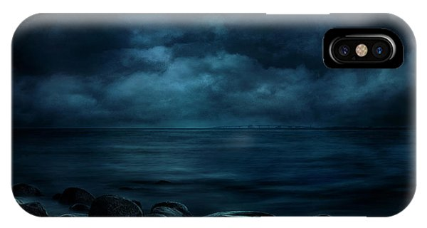 Moonlight iPhone Case - Moonlight Over Distant Shores by Willy Marthinussen
