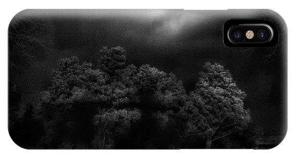 Pond iPhone Case - Moonlight Raaverie by Yvette Depaepe
