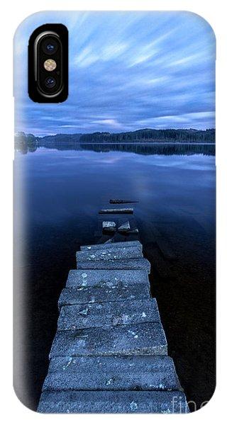 Loch Ard iPhone Case - Moonlight Shadow by John Farnan