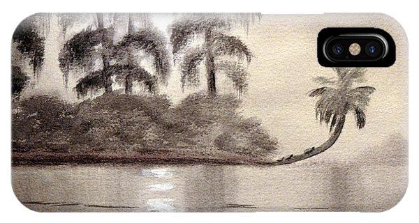 Wakulla iPhone Case - Moonlight Wakulla Springs by Bill Holkham