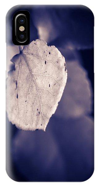 Moonlit Aspen Leaf IPhone Case
