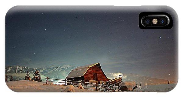 Moonlit Barn IPhone Case