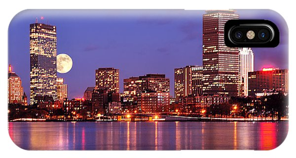 Moonlit Boston On The Charles IPhone Case