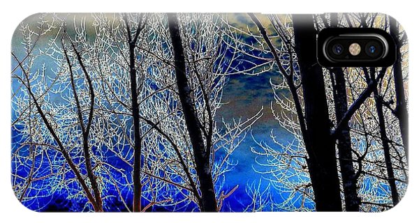 Moonlit Frosty Limbs IPhone Case