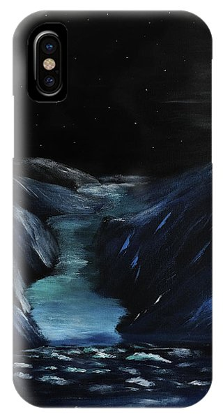 Moonlit Glacier IPhone Case