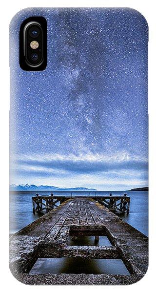 Beautiful Scotland iPhone Case - Moonlit Milky Way by John Farnan