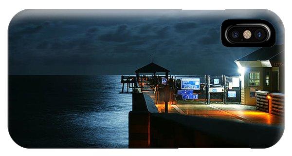 Moonlit Pier IPhone Case