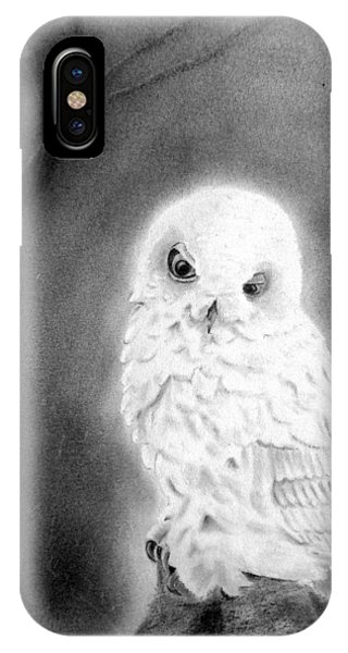 Moonlit Snowy Owl IPhone Case