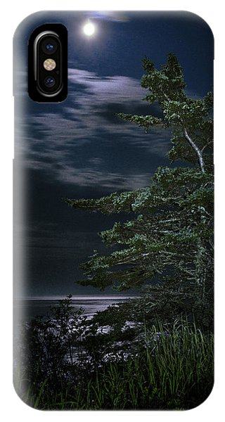 Moonlit Treescape IPhone Case