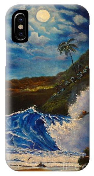 Moonlit Wave 11 IPhone Case