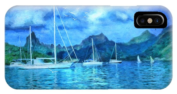 Moonrise In Mo'orea IPhone Case
