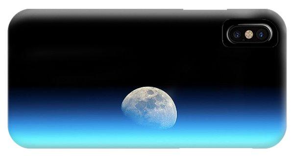 Earth Orbit iPhone Case - Moonrise Over Earth by Detlev Van Ravenswaay
