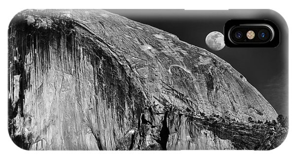 Moonrise Over Half Dome IPhone Case