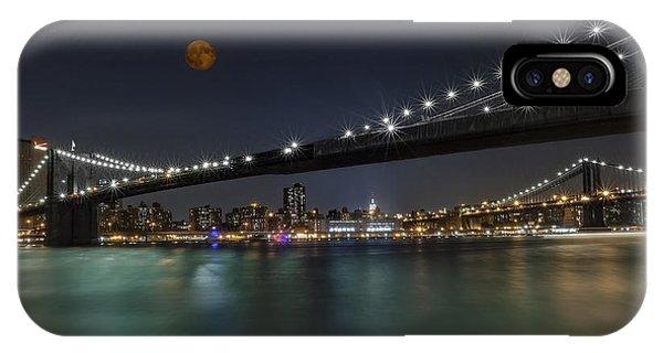 Moonrise Over Manhattan II IPhone Case