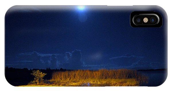 Moonrise Over Rochelle - Landscape IPhone Case