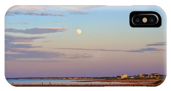 Moonrise Over Sandwich And Canal IPhone Case