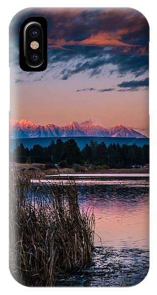 Moonrise Rocky Moutains IPhone Case
