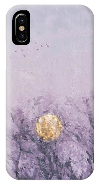 Moonset Dawn IPhone Case