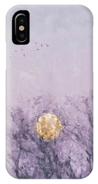 Moonset Dawn IPhone Case