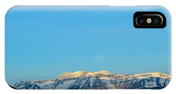 Moonset Over Timpanogos IPhone Case