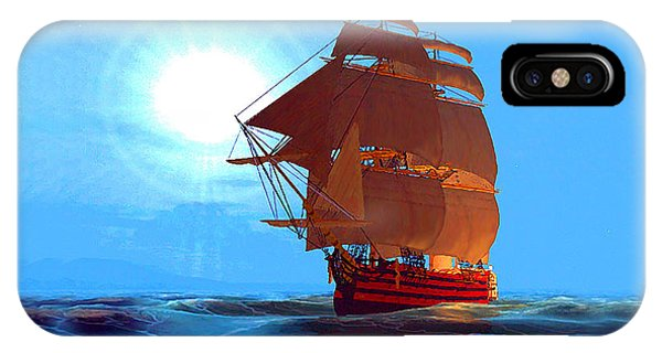 Moonship Galleon Filtered IPhone Case