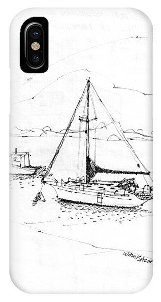 Moored Boats Monhegan Island IPhone Case